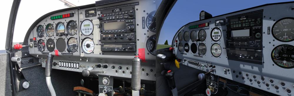 transpondeur, comparatif avion réel et simu.